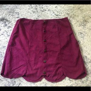 Lauren Conrad Scallop Skirt